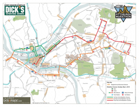 2015 Pittsburgh Marathon Route Maps May 1 3 2015